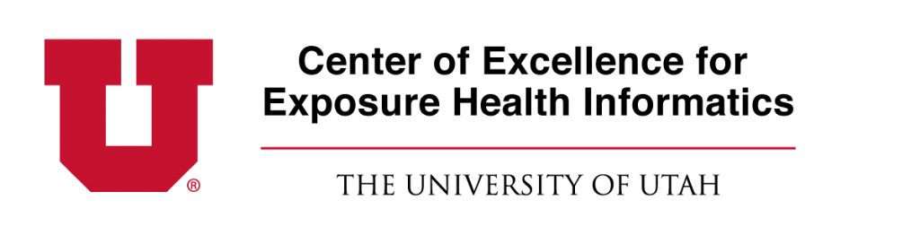 Logo for the Center of Excellence for Exposure Health Informatics